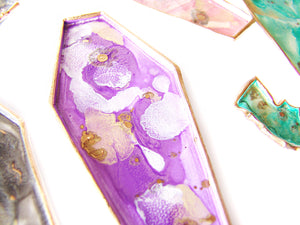 Creepy Cute Coffin Findings + Trinket Dish, Amethyst - Sucre Sucre Miniatures