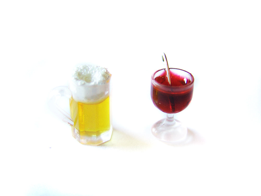 Holiday Harvest Beer and Wine Charms - Sucre Sucre Miniatures