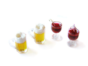 Red Wine Charm - Sucre Sucre Miniatures