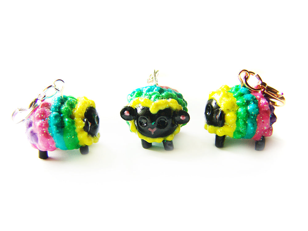Lucky Sleepy Sheep Charm