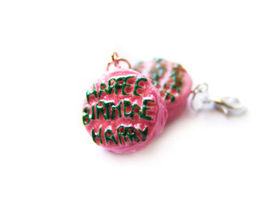 Happee Birthdae Cake Charm - Sucre Sucre Miniatures