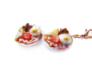 English Breakfast Plate Charm - Sucre Sucre Miniatures