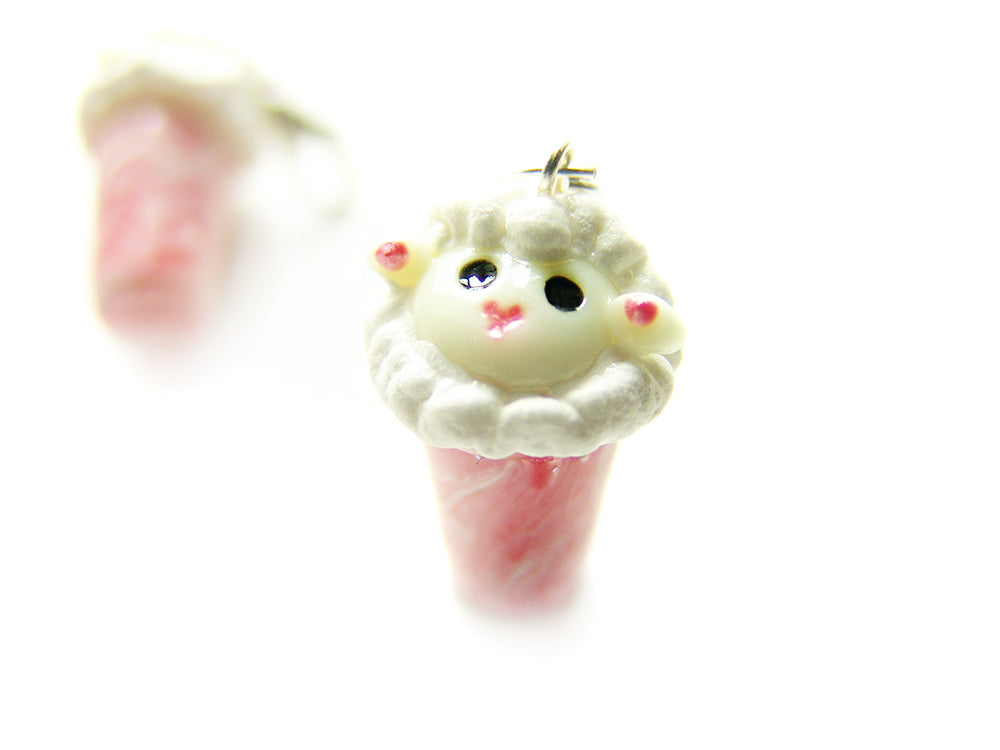 Sleepy Sheep Shake Strawberry Milkshake Charm - Sucre Sucre Miniatures