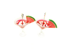 Load image into Gallery viewer, Watermelon Martini Charm - Sucre Sucre Miniatures