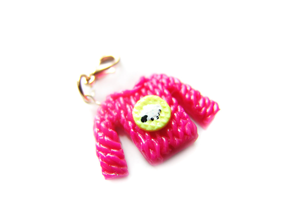 Sleepy Sheep Knit Sweater Charm - Sucre Sucre Miniatures
