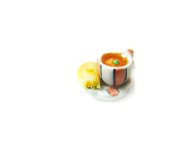 Load image into Gallery viewer, Sucre Sucre Miniatures Presents: Wizardr-tea Charm Collection, No.001 Pumpkin Juice Hot Tea - Sucre Sucre Miniatures