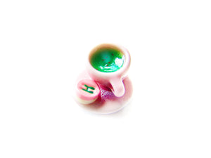 Wizardr-tea Charm Collection, No.004 Happee Birthdae Green Tea - Sucre Sucre Miniatures