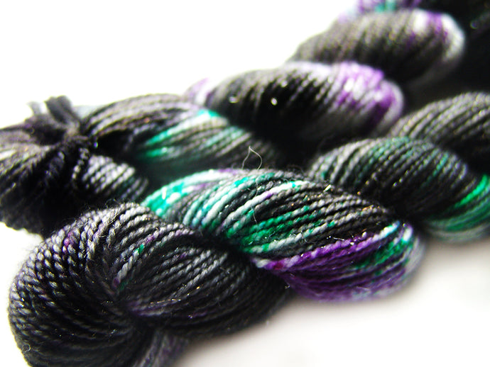 Maleficent | Stellina Sparkle Mini, Single | SSM Marketplace Signature Yarn - Sucre Sucre Miniatures
