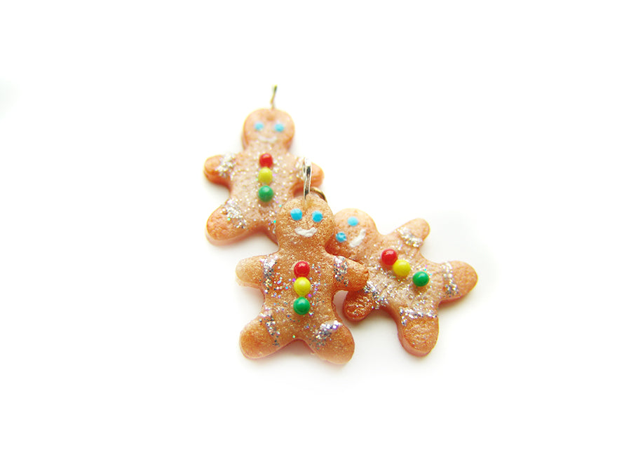 Gingerbread Man Cookie Holiday 2018 Charm - Sucre Sucre Miniatures