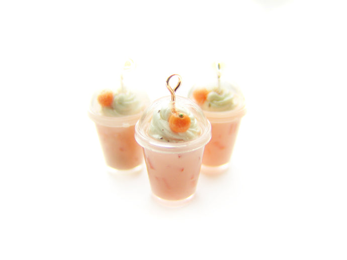 Pumpkin Spiced Latte Frappe Dome Cup Holiday 2018 Charm - Sucre Sucre Miniatures