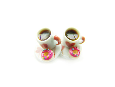 Perfect Pairings Coffee and a Donut Charm |Valentine's 2019 *Limited Release* - Sucre Sucre Miniatures