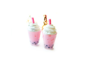 Strawberry Boba Tea Charm - Sucre Sucre Miniatures