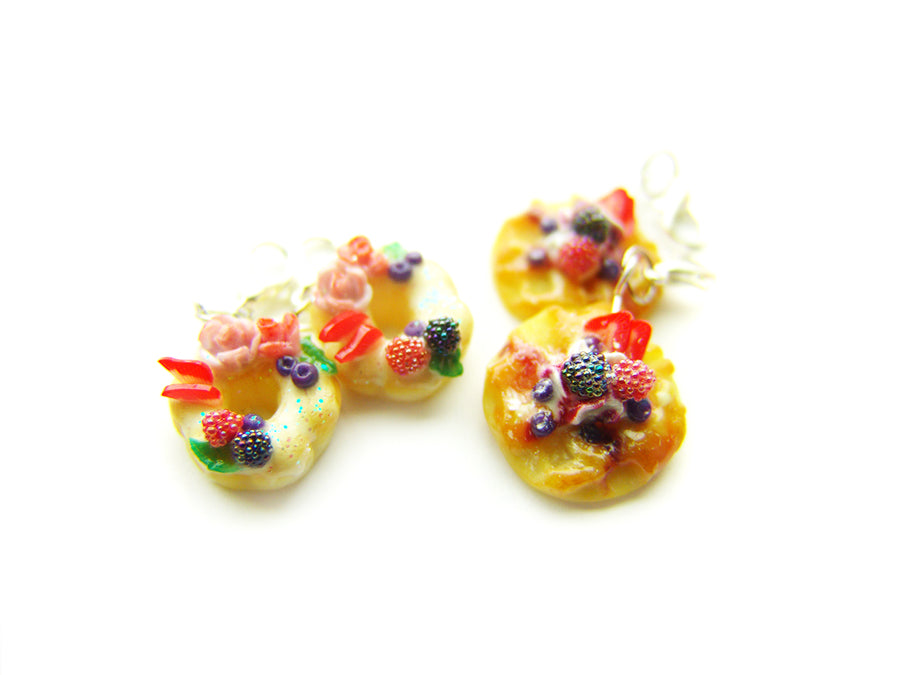 Brunch at the Farmer's Market Belgium Waffle and Bundt Cake Donut Charms - Sucre Sucre Miniatures