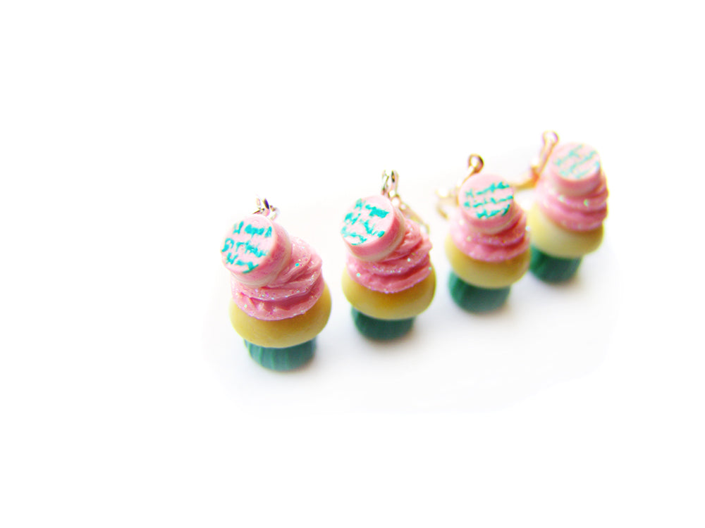 Happee Birthdae Cupcake Charm - Sucre Sucre Miniatures