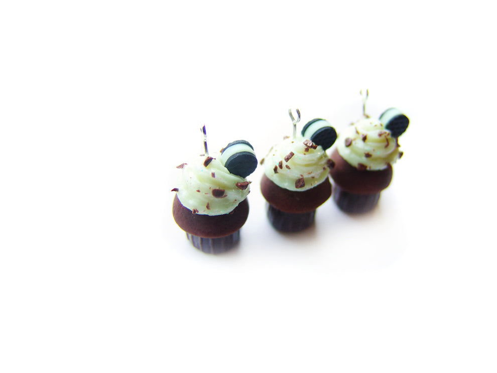 Cookies and Cream Tuxedo Cupcake Charm - Sucre Sucre Miniatures