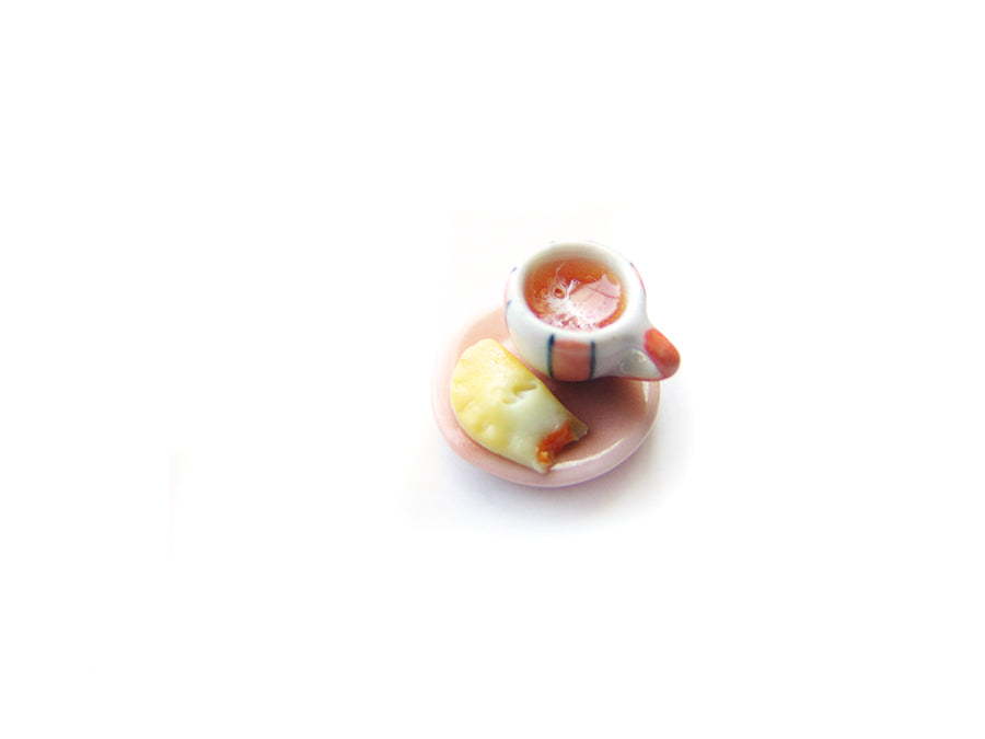 Wizardr-tea Charm Collection, No.009 Pun'kin Pasty Pumpkin Spiced Latte Charm - Sucre Sucre Miniatures