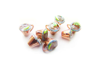 Moscow Mules in Copper Cups, Holiday Mixed Drink Charm - Sucre Sucre Miniatures