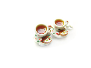 Peppermint Tea with a Gingersnap Cookie Charm - Sucre Sucre Miniatures