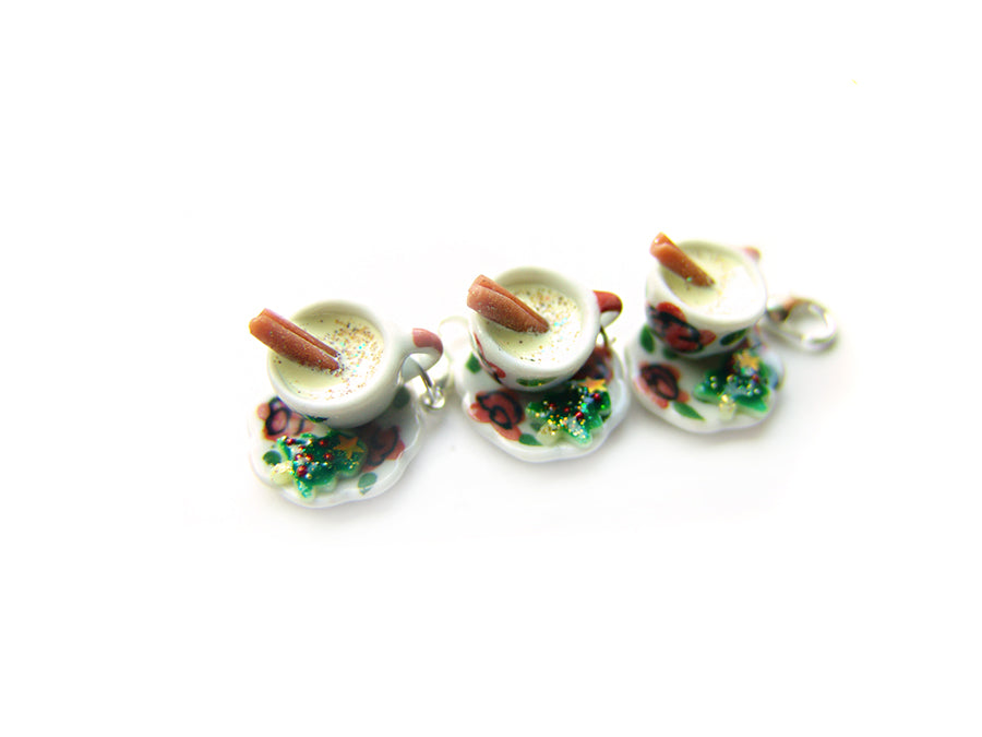 Eggnogg HOTcup with Christmas Cookie Charm - Sucre Sucre Miniatures