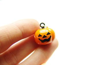 Halloween Jack o' Lantern Jingle Bell Charm