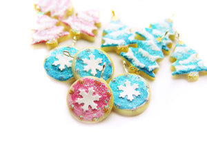 Ombré Snowflake Cameo Cookie, A Very Sucre Sucre Holiday 2019 - Sucre Sucre Miniatures