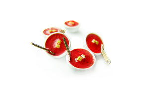 Bowl of Tomato Soup Charm - Sucre Sucre Miniatures