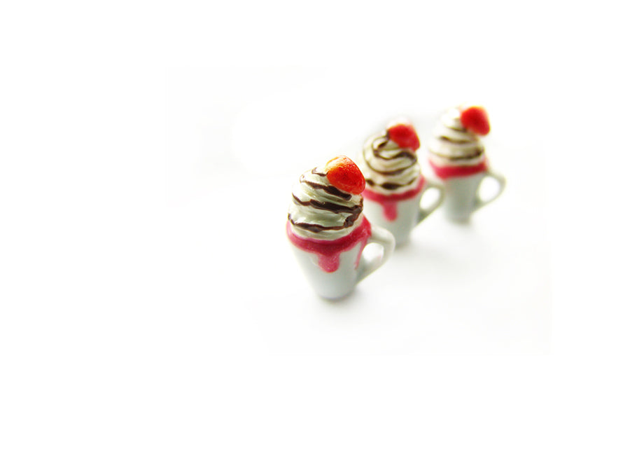 Chocolate Strawberry Hot Cocoa Charm - Sucre Sucre Miniatures