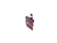 Load image into Gallery viewer, Espresso Mocha Layer Coffee Cake Slice Charm - Sucre Sucre Miniatures