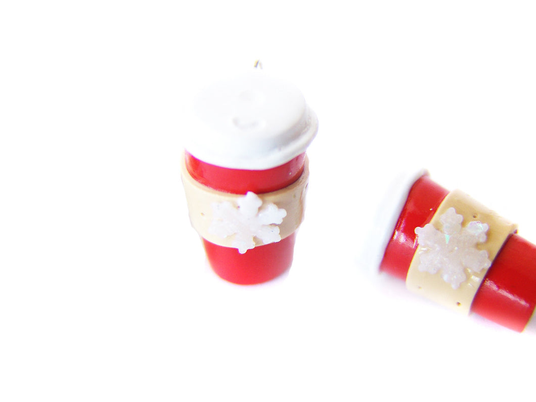 Holiday Red Cup Peppermint Mocha Togo Coffee Charm - Sucre Sucre Miniatures