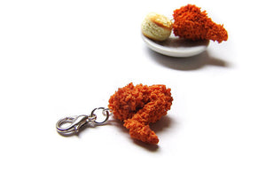 Fried Chicken Wing Charm - Sucre Sucre Miniatures