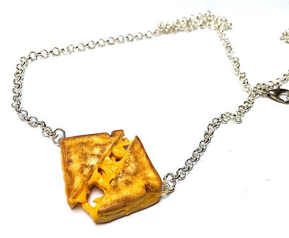 Pull-Apart Grilled Cheese Necklace - Sucre Sucre Miniatures