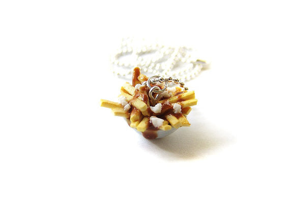 Poutine Bowl Necklace - Sucre Sucre Miniatures