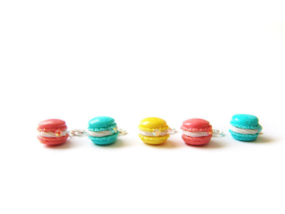 French Macaron Charm, Candy Colors - Sucre Sucre Miniatures