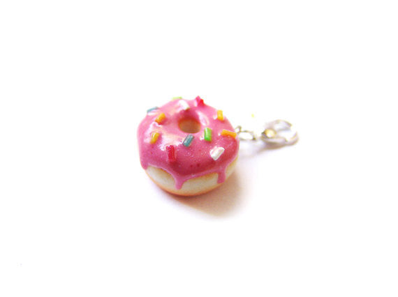 Pink Sprinkle Donut Charm - Sucre Sucre Miniatures