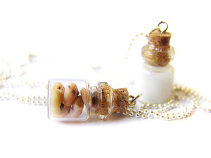 Cookies and Milk BFF Necklace Set - Sucre Sucre Miniatures