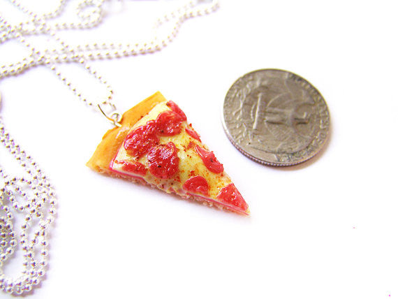The Pizza is Eternal Necklace - Sucre Sucre Miniatures