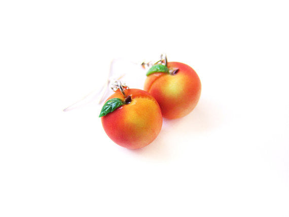 Peach Dangle Earrings - Sucre Sucre Miniatures