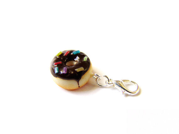 Chocolate Sprinkle Donut Charm - Sucre Sucre Miniatures