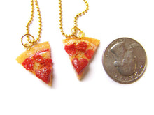 Load image into Gallery viewer, Heart Pizza BFF Necklace Set - Sucre Sucre Miniatures