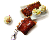 Load image into Gallery viewer, BBQ Rack of Ribs Charm - Sucre Sucre Miniatures