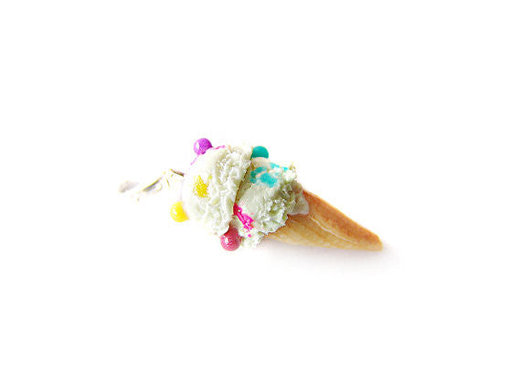 Birthday Cake Funfetti Ice Cream Charm - Sucre Sucre Miniatures