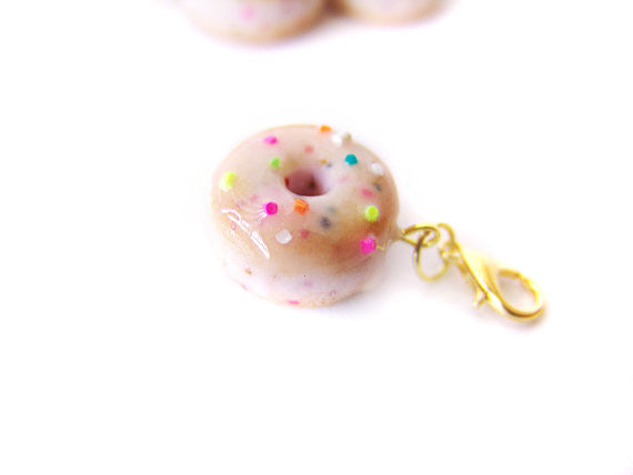 Funfetti Sprinkle Glazed Donut Charm - Sucre Sucre Miniatures