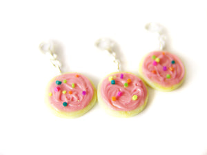 Pink Frosted Sugar Cookie Charm