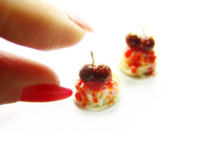 Spaghetti and Meatballs Charm - Sucre Sucre Miniatures