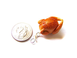 Holiday Roast Turkey Charm, Rhinebeck 2019 - Sucre Sucre Miniatures