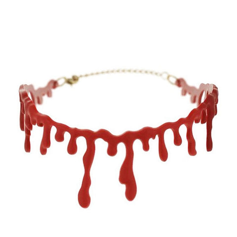 Bloody Cutthroat Necklace Choker - Hale Satin