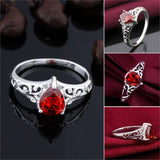 Red Blood Drop Vampire Ring