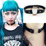 PVC Choker with a choice of metal o-ring style. - Hale Satin
