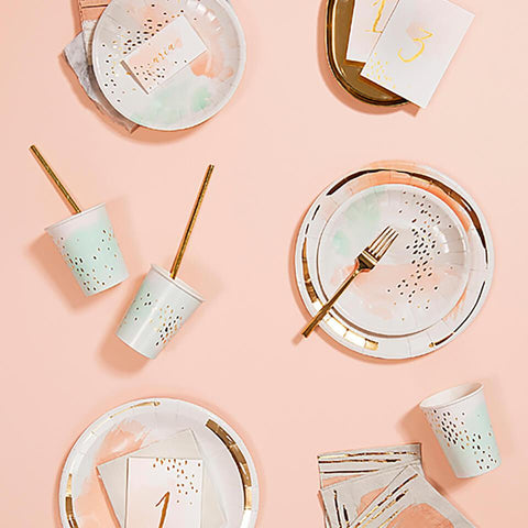 Harlow & Grey | Daydream - Watercolor Small Party Plates