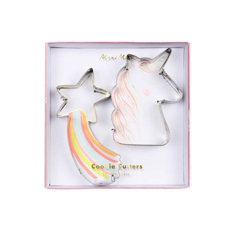 Meri Meri / Rainbow & Unicorn cookie cutter (koekjesvorm) - Oh My Dear